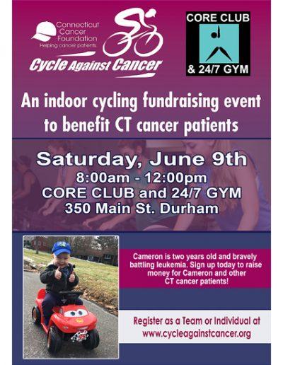 Cycle Against Cancer – Core Club, Durham