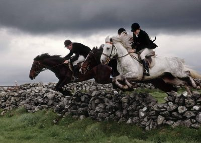 Jumping a Stone Wall, County Galway, 1994