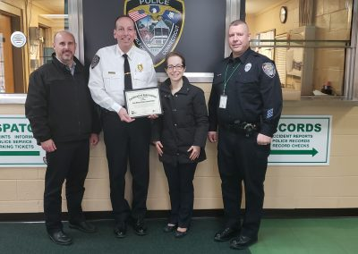 New Milford PD Certificate Presentation