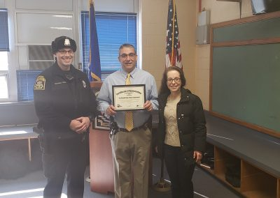 Woodbridge PD Certificate Presentation
